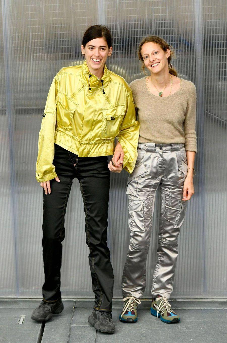 Christa Bösch et Cosima Gadient après le défilé Ottolinger printemps-été 2019