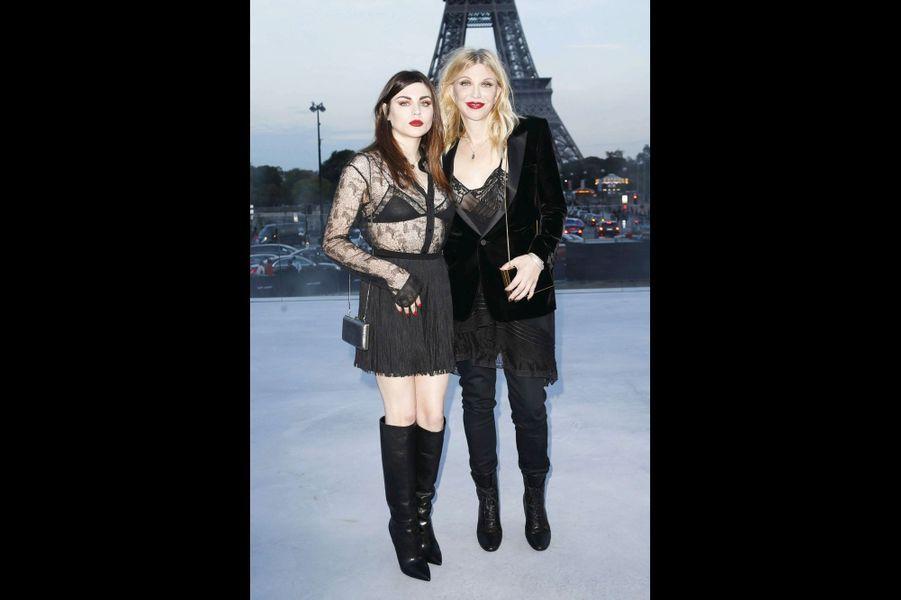 Courtney Love et sa fille Frances Bean Cobain.