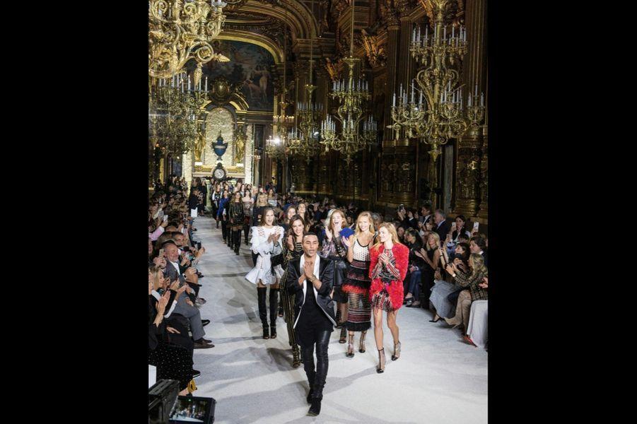 Balmain: Dans le grand foyer du palais Garnier, le 28 septembre.