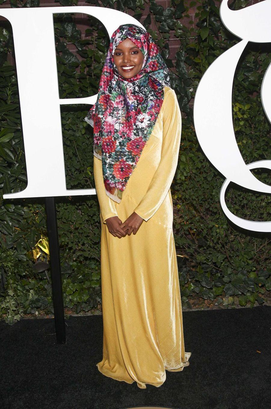 Halima Aden à New York, en septembre 2017.