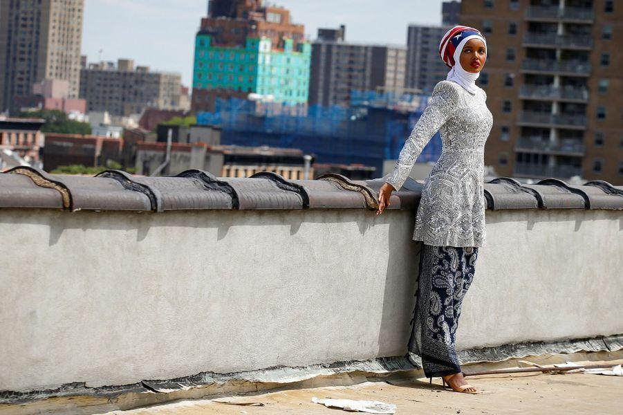 Halima Aden à New York, en août 2017.