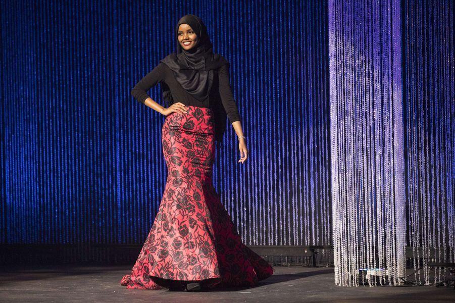 Halima Aden au concours de Miss USA Minnesota à Burnsville, en novembre 2016.