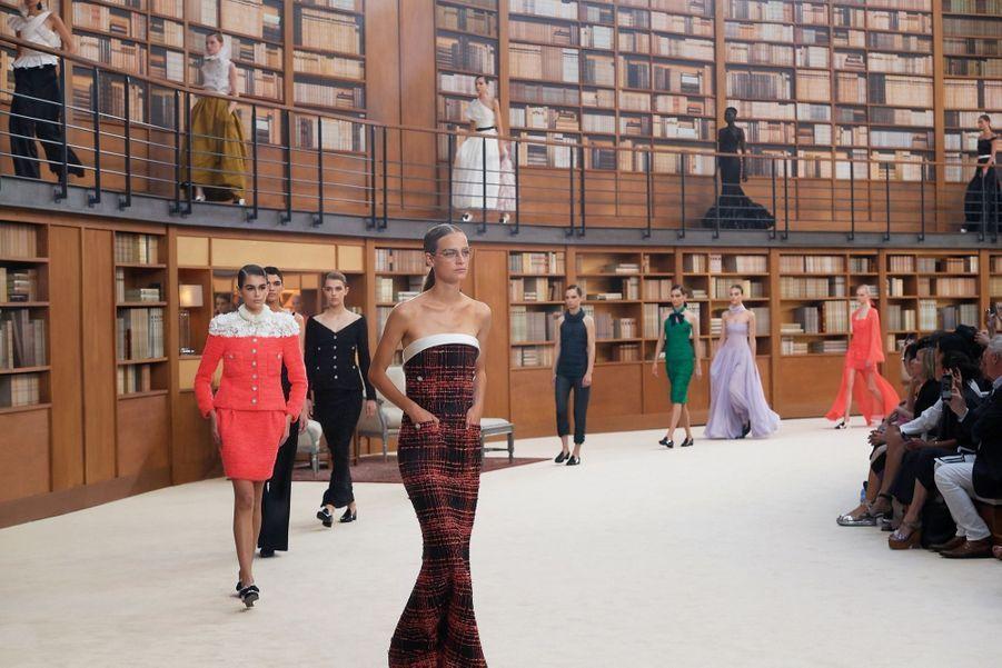 Le 2 juillet, le défilé Chanel automne-hiver 2019-2020 sous la nef du Grand Palais.