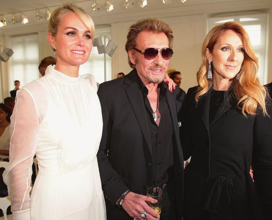 Laeticia et Johnny Hallyday, Céline Dion.