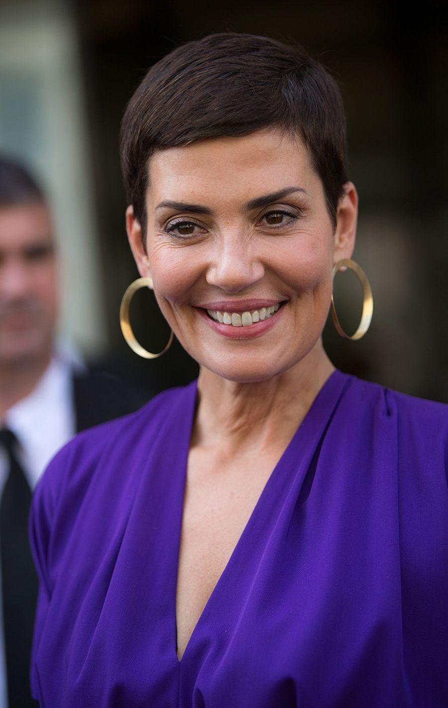 Cristina Cordula au défilé Jean Paul Gaultier à Paris, le 5 juillet 2017.
