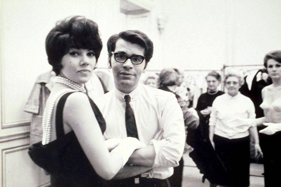 Karl Lagerfeld en 1964.