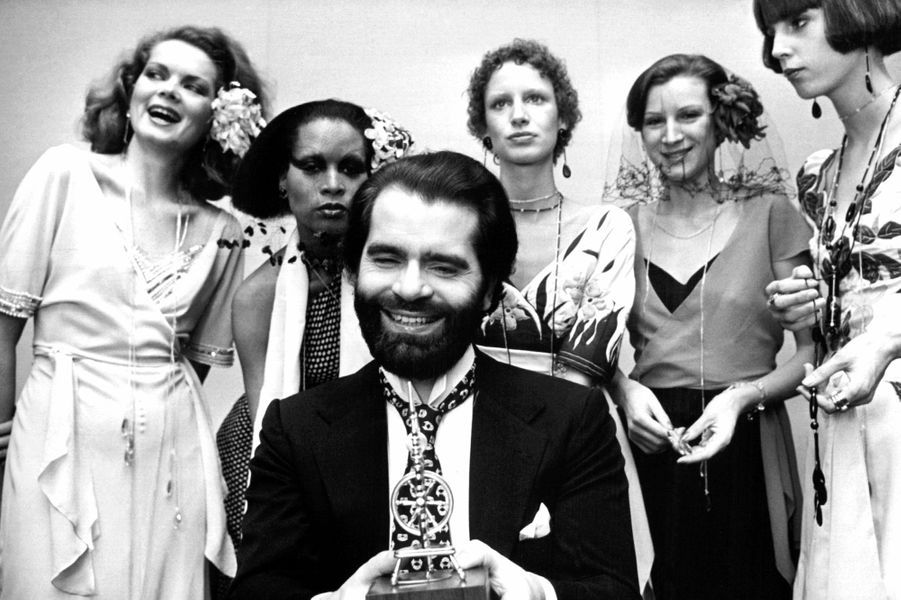 Karl Lagerfeld en 1973.