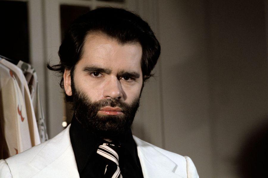 Karl Lagerfeld en 1974.