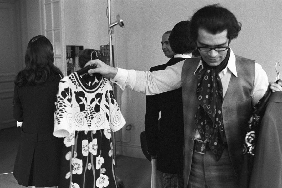 Karl Lagerfeld en 1969.