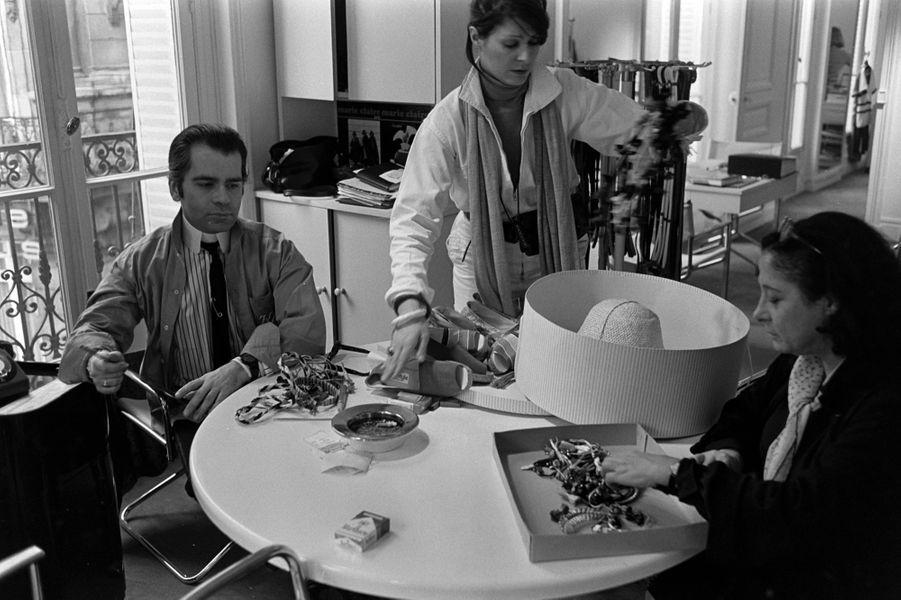 Karl Lagerfeld en 1977.