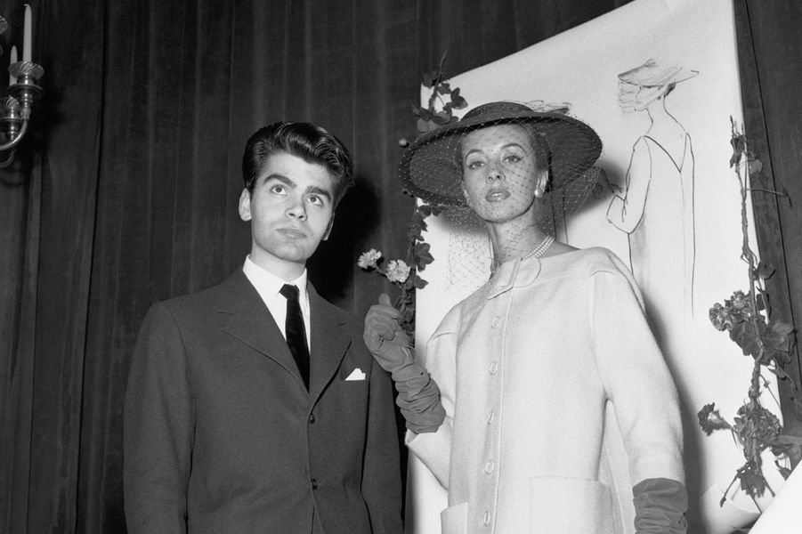 Karl Lagerfeld en 1954.