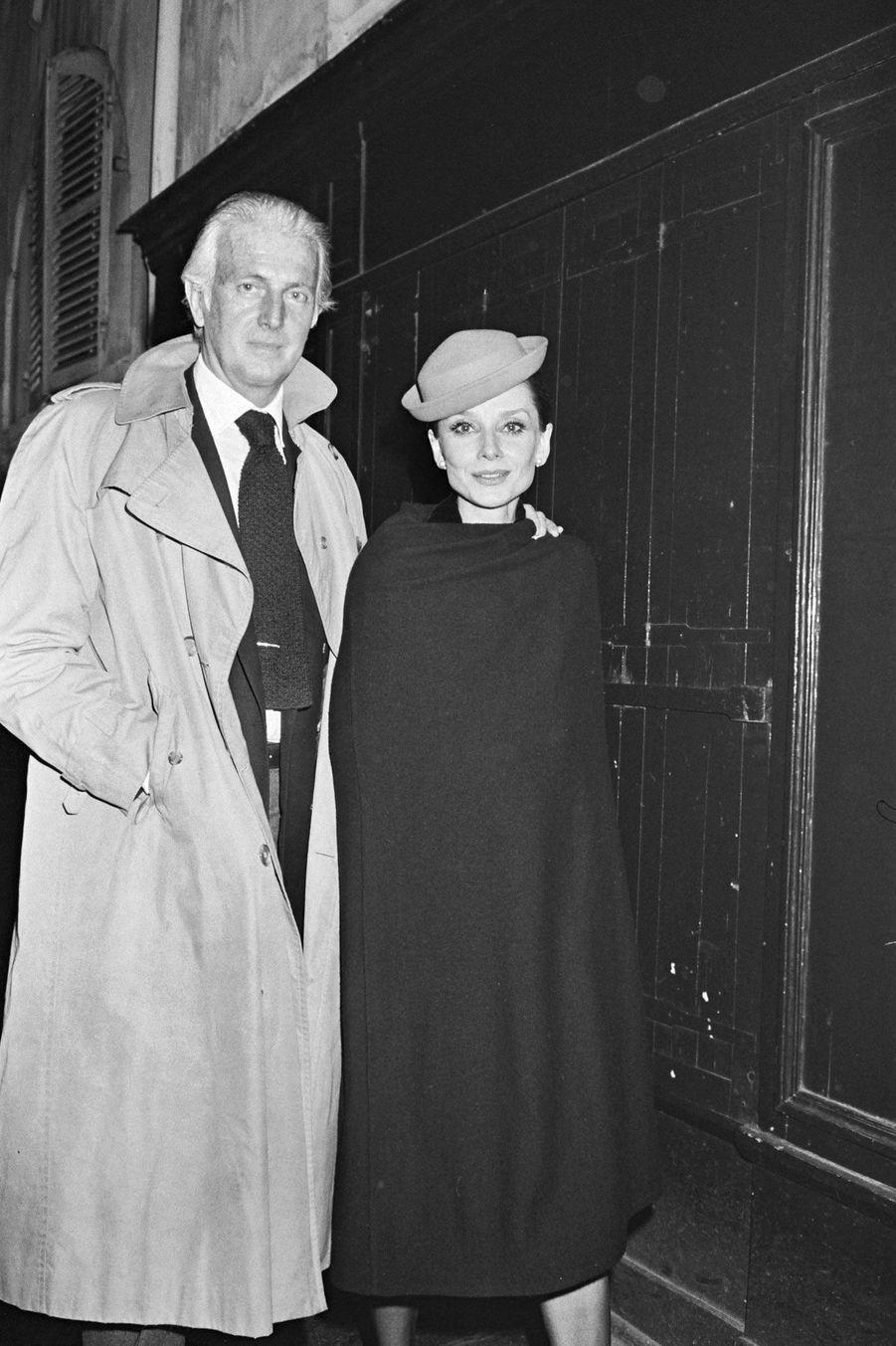 Hubert de Givenchy et sa muse Audrey Hepburn à Paris