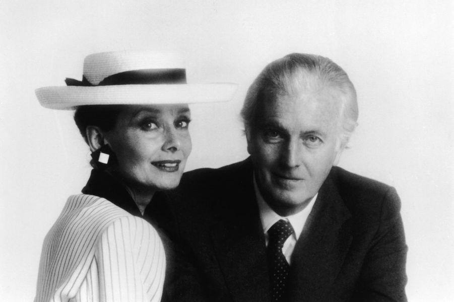 Hubert de Givenchy et Audrey Hepburn dans les années 1980