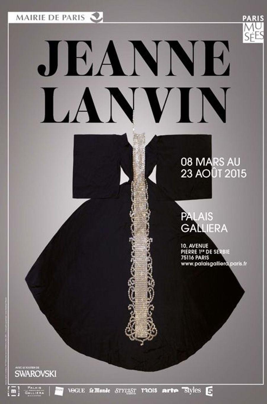 Affiche de l'Exposition Jeanne Lanvin