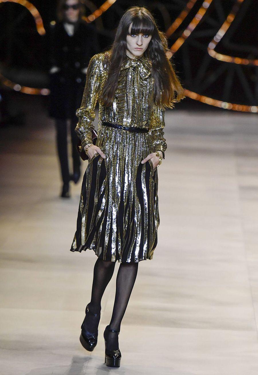 Hedi Slimane présente sa collection prêt-à-porter automne-hiver 2020-2021 pour Celine aux Invalides à Paris, le 28 février.