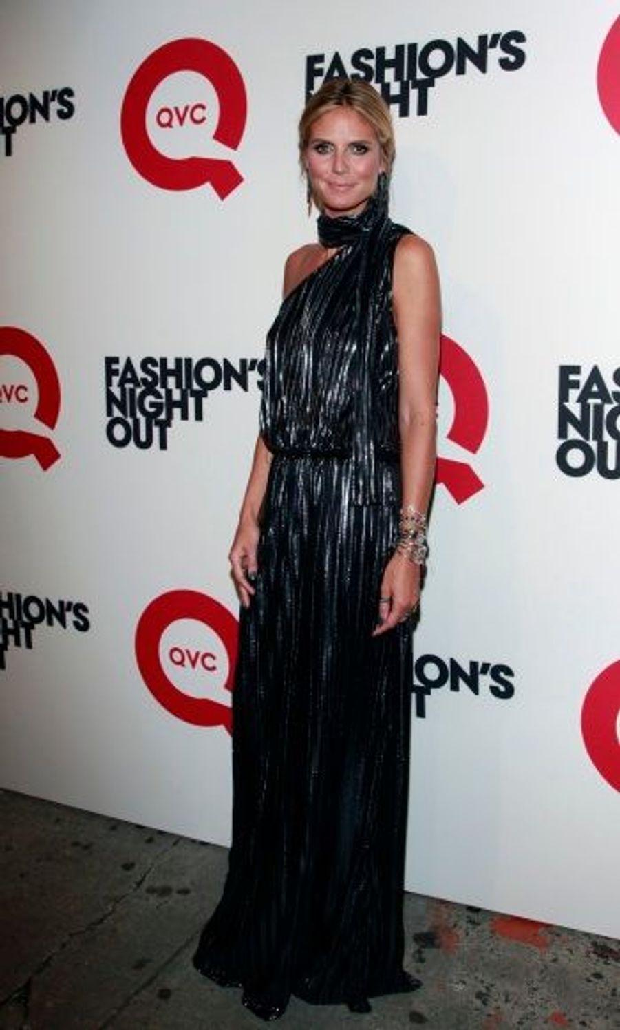 Heidi Klum, à la soirée QVC, à New York.