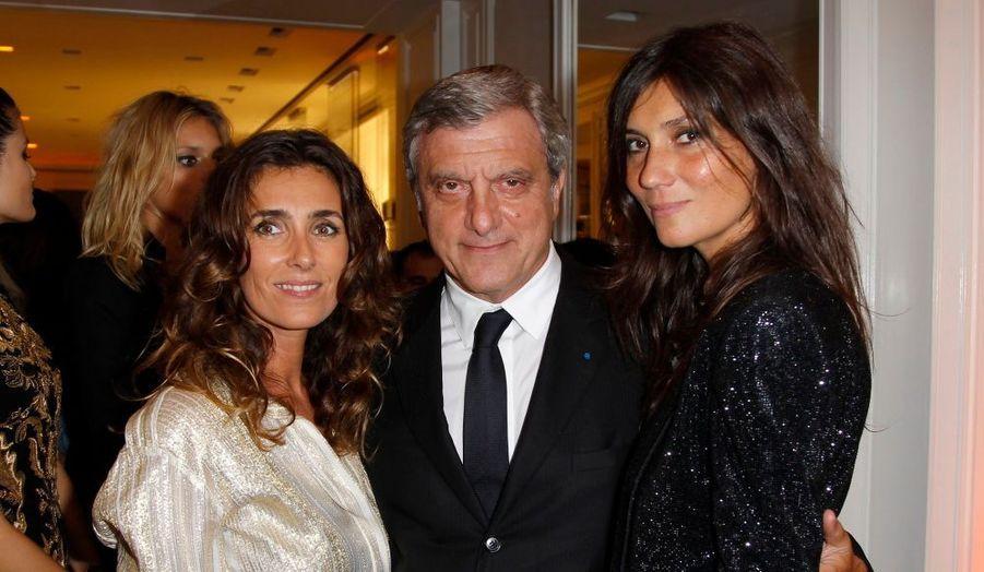 La chroniqueuse Mademoiselle Agnès, le PDG de Christian Dior Couture Sidney Toledano et la rédactrice en chef du Vogue français Emmanuelle Alt.