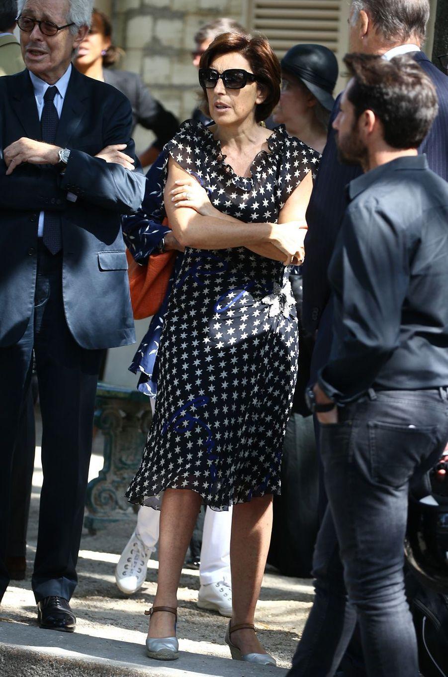 Ruth Elkrief aux obsèques de Sonia Rykiel à Paris, le 1er septembre 2016.