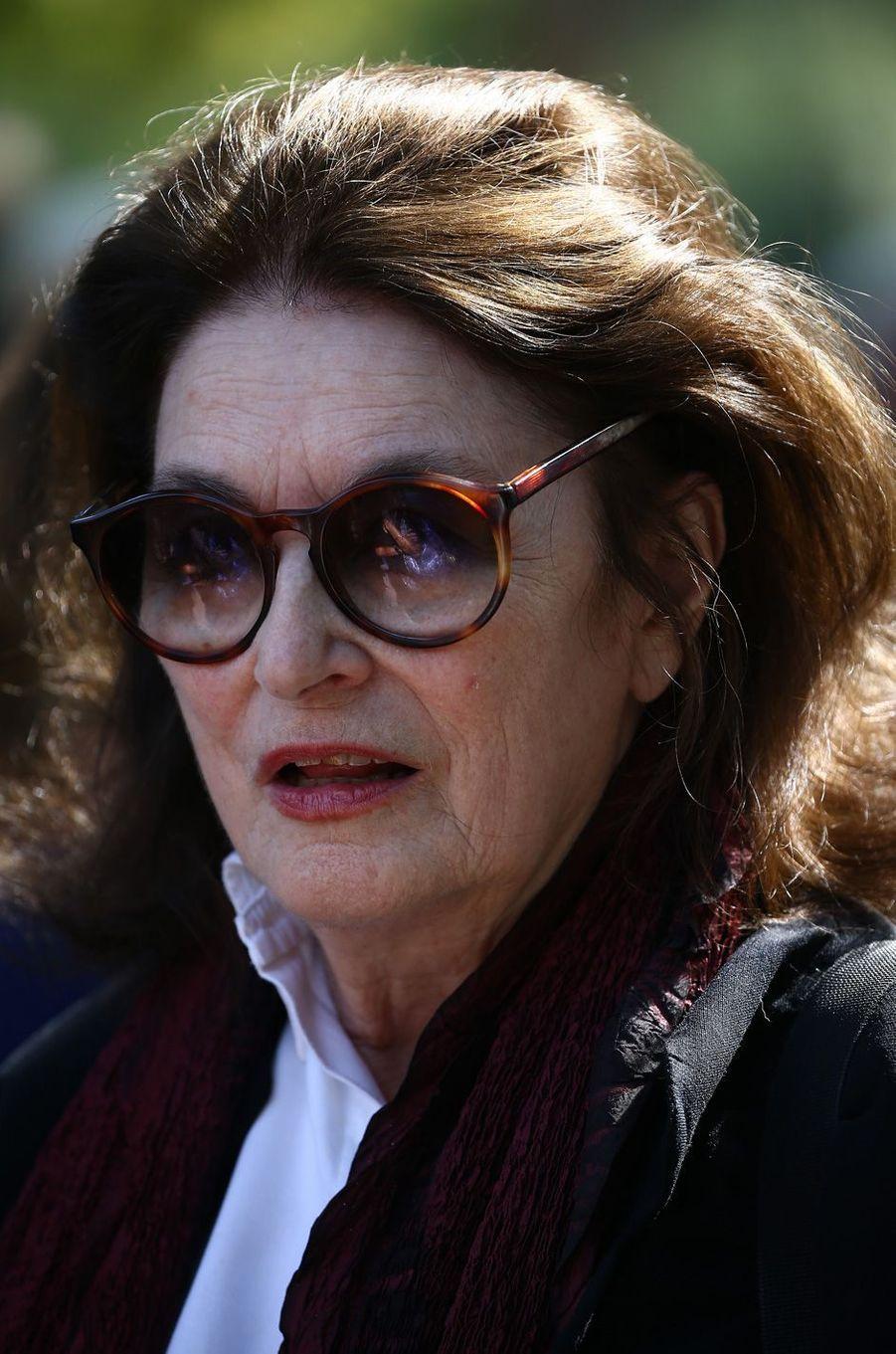 Anouk Aiméeaux obsèques de Sonia Rykiel à Paris, le 1er septembre 2016.