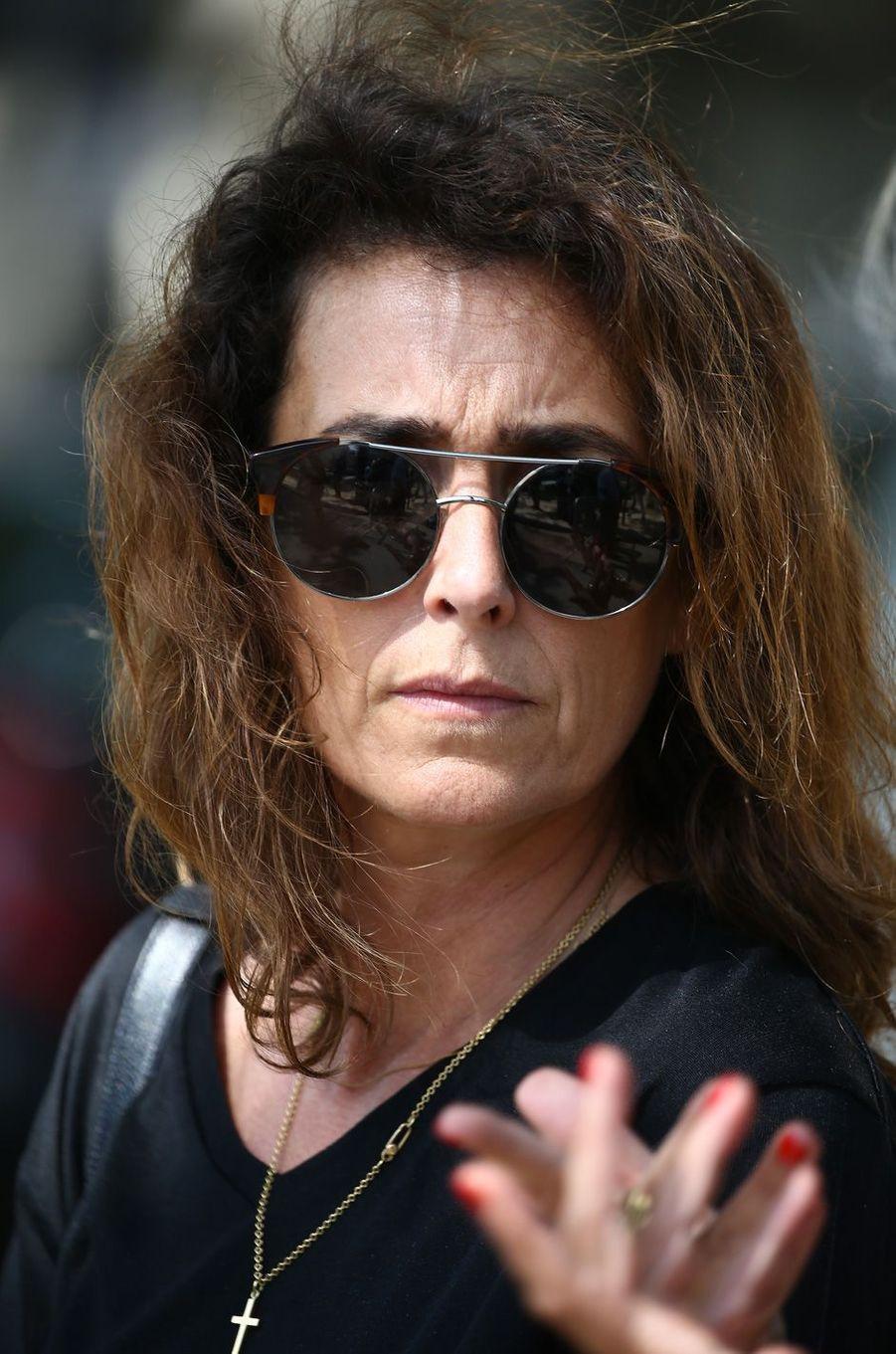 Mademoiselle Agnèsaux obsèques de Sonia Rykiel à Paris, le 1er septembre 2016.