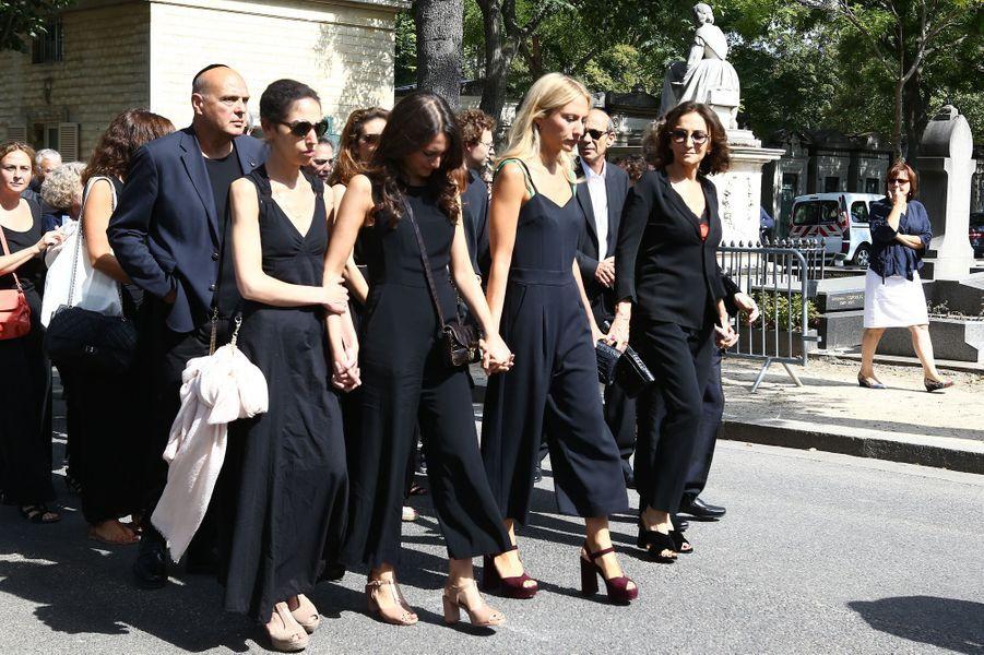 Les obsèques de Sonia Rykiel ont eu lieu à Paris, le 1er septembre 2016.