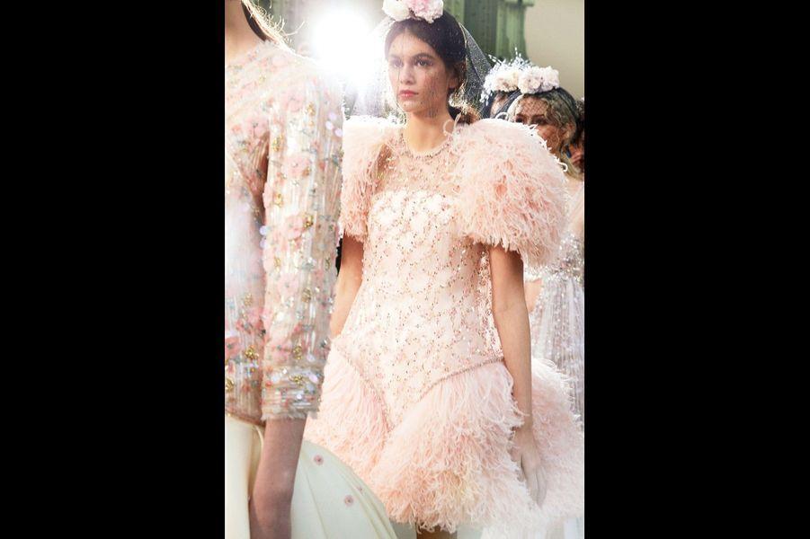 Kaia Gerber, 16 ans. La fille de Cindy Crawford, le mannequin star de Karl Lagerfeld.