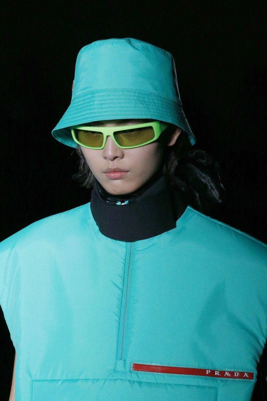 Vives couleurs pour Prada, à Milan