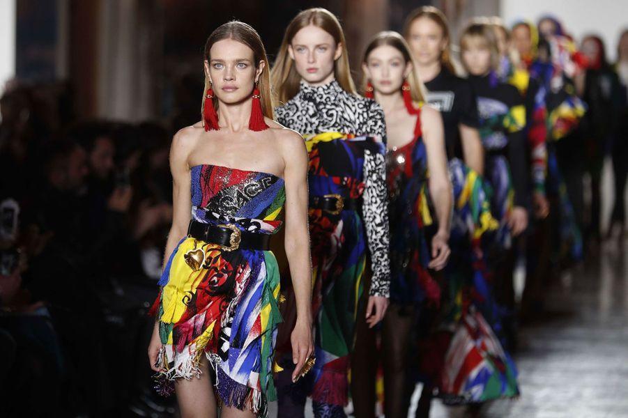 Natalia Vodianova pour Versace à Milan