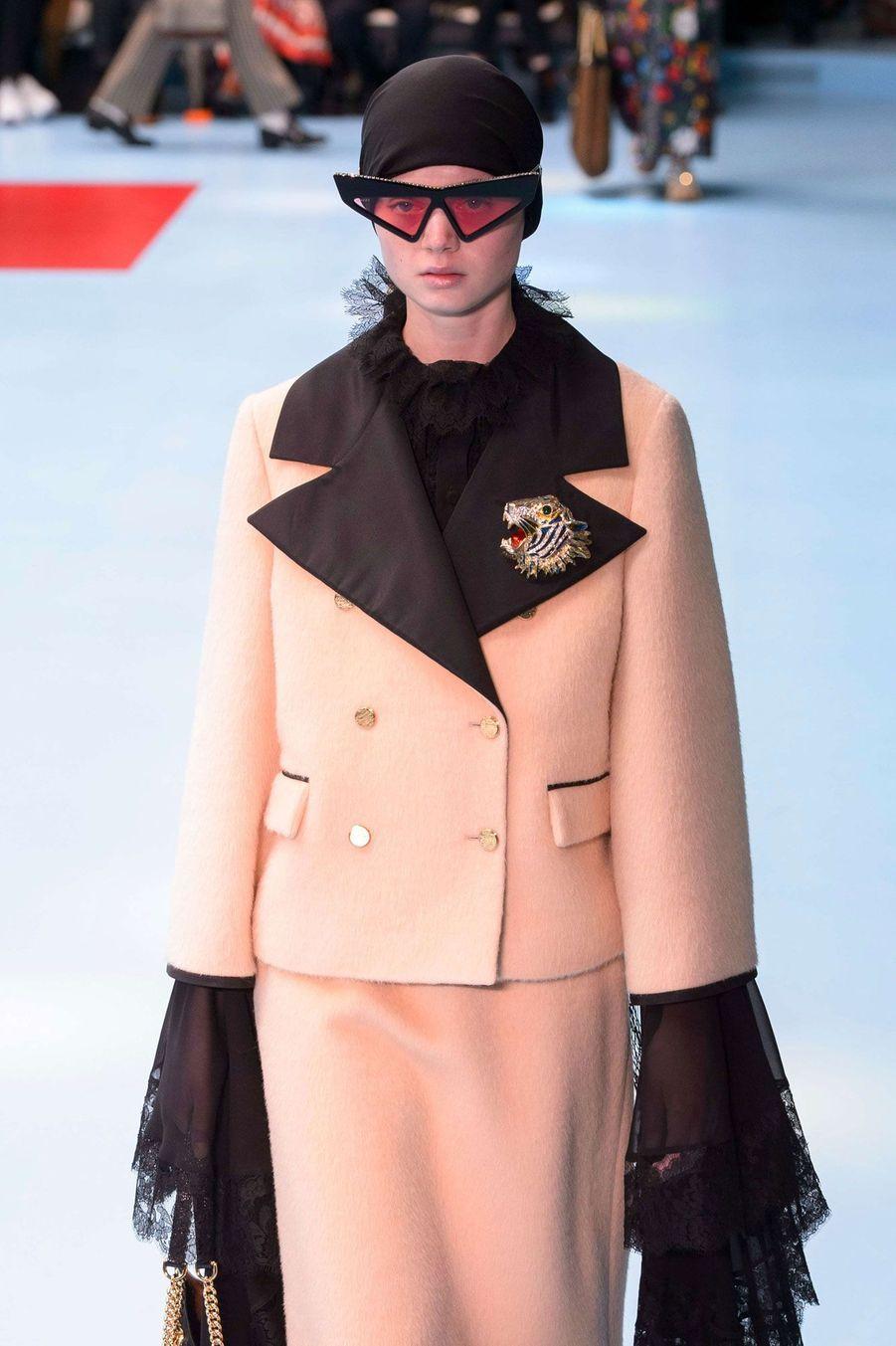 Défilé Gucci à Milan en février 2018