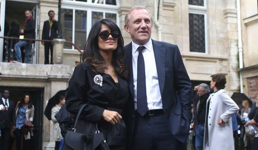Salma Hayek et Francois-Henri Pinault au défilé Balenciaga