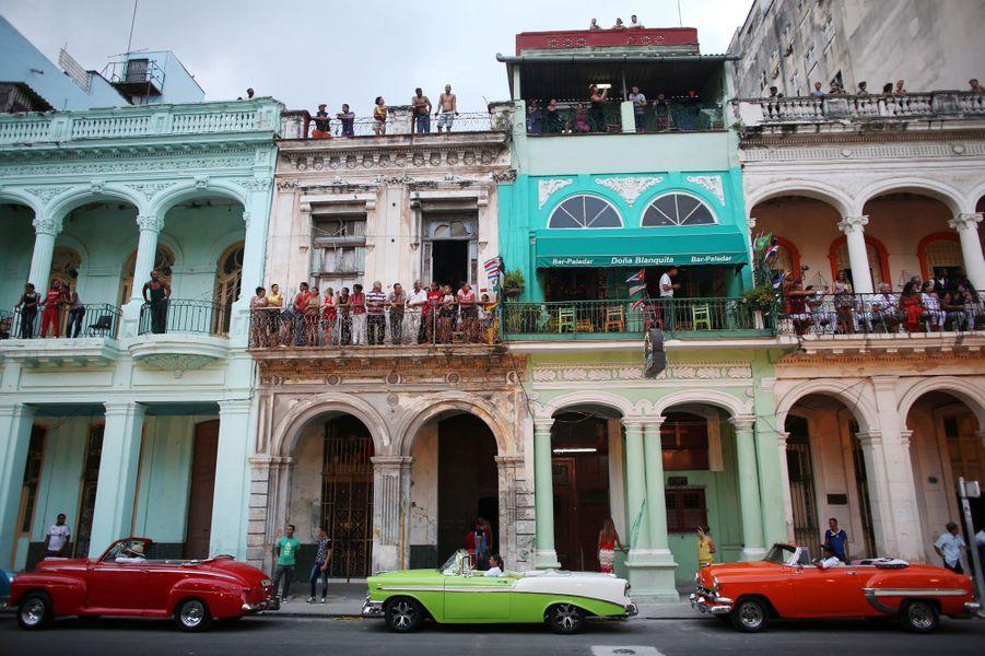 Boulevard le Paseo del Prado à La Havane, mai 2016.