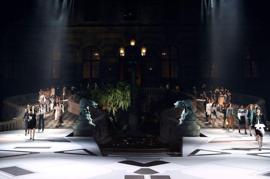 Présentation de la collection Prêt-à-porter automne-hiver 2019 Louis Vuitton, le 6 mars 2018.