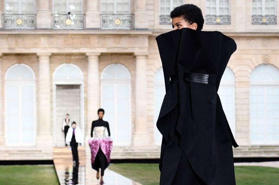 Défilé hommage Givenchy, le 1er juillet 2018 pour la Fashion week Haute couture automne-hiver 2019.