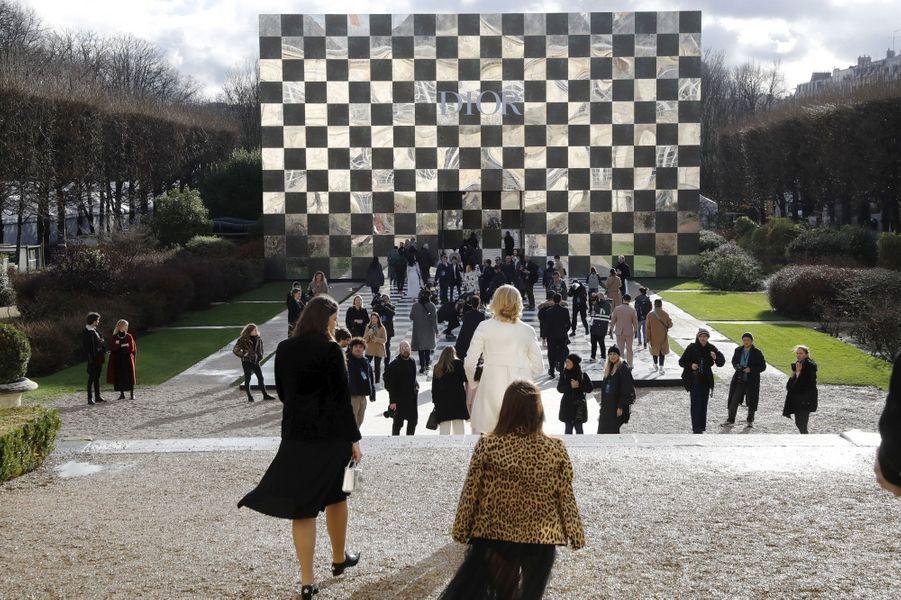 Présentation de la collection Dior Haute couture printemps-été 2018, le 22 janvier 2018.
