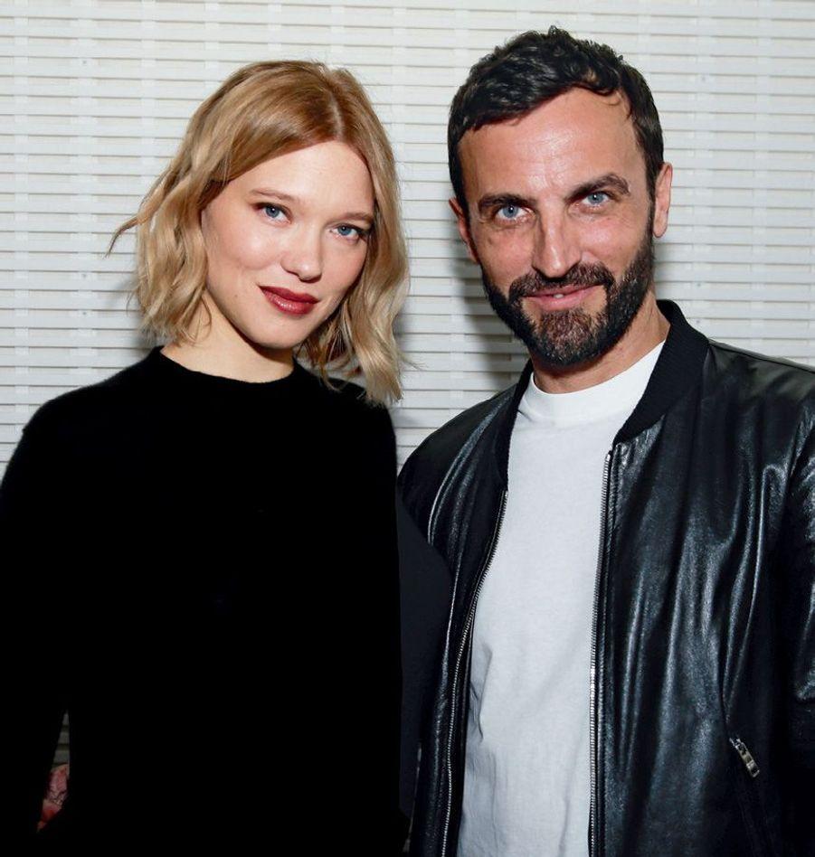 Léa Seydoux, nouvelle égérie Louis Vuitton au côté de Nicolas Ghesquière, directeur artistique de la maison.