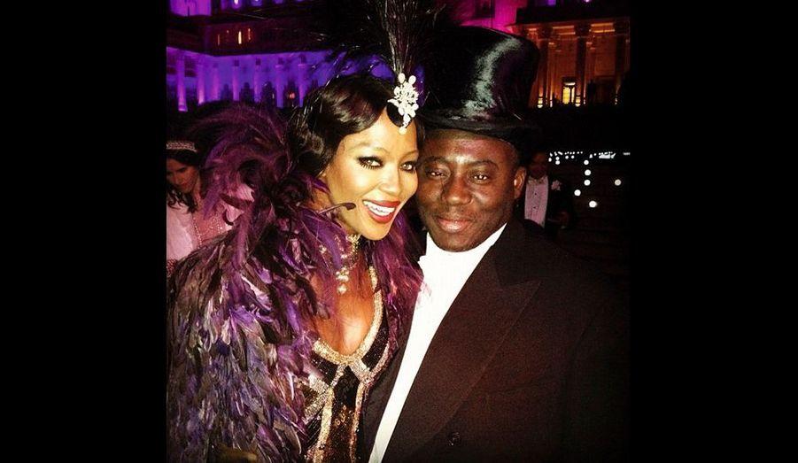 Naomi avec Edward Enninful, directeur de la mode et de création du magazine « W ».