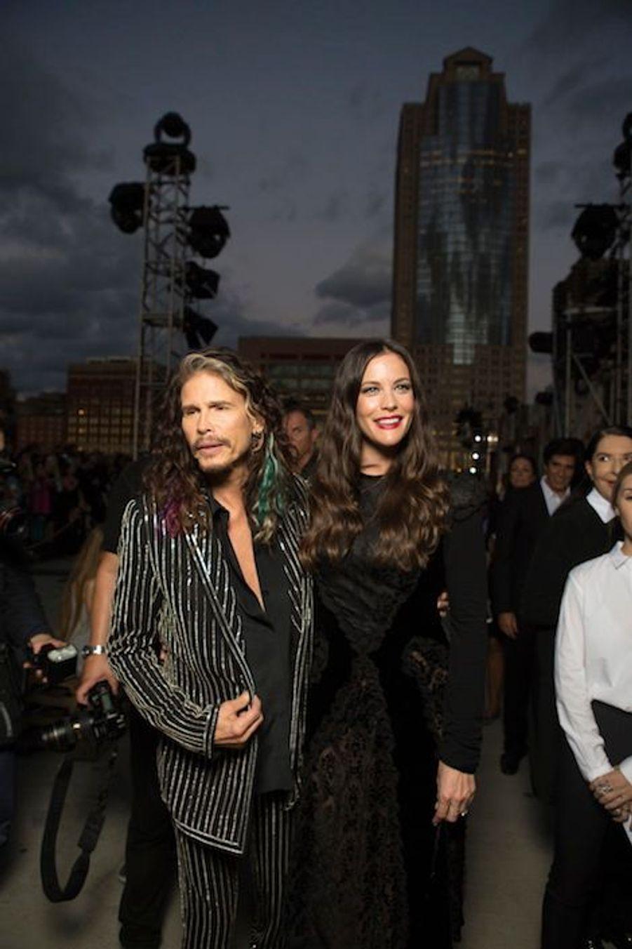 L'actrice Liv Tyler et son père, Steven, chanteur du groupe Aerosmith.