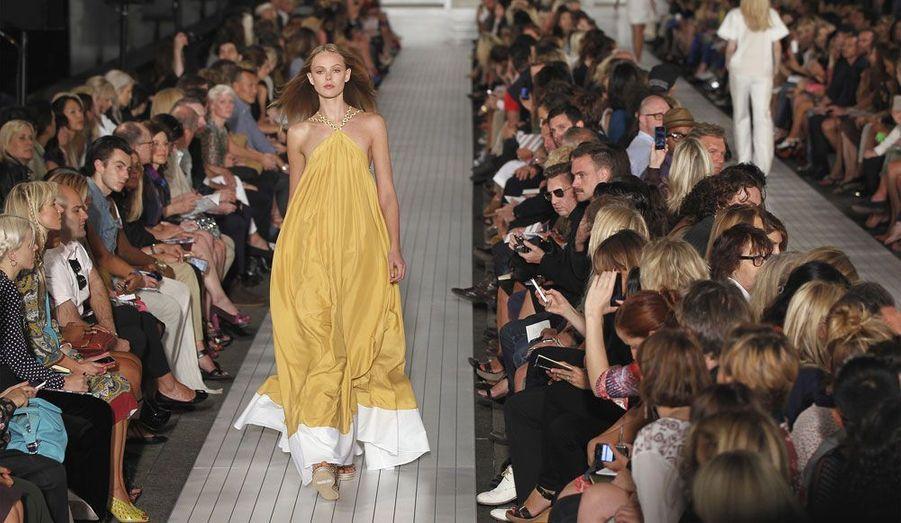 L'Américain Tommy Hilfiger est également venu faire défiler des mannequins pour les créations de la marque éponyme.