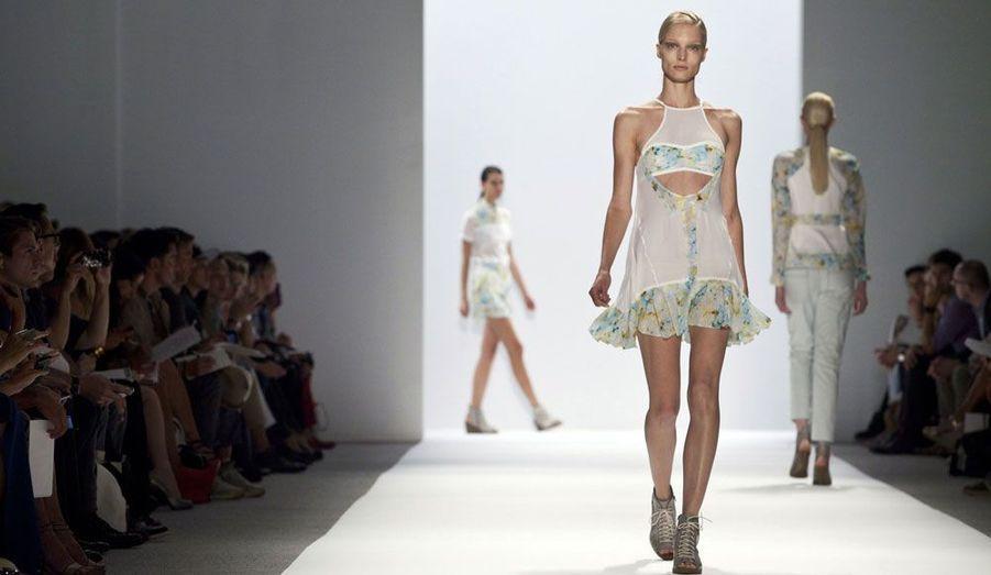 Le premier jour du rendez-vous a permis aux fashionistas de découvrir notamment la nouvelle collection de l'Américain, tout en douceur et légèreté.
