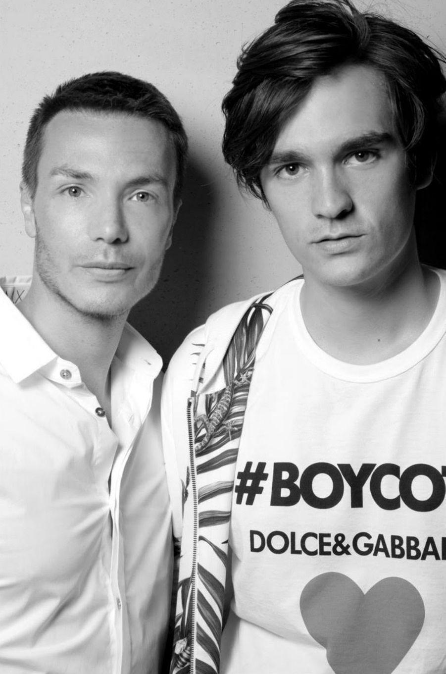 Maxime Simoens et Alain-Fabien Delon