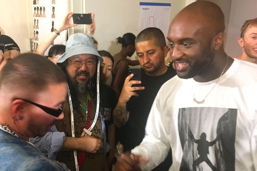 Virgil Abloh en backstage du défilé Off-White homme printemps-été 2019, Paris, 20 juin 2018