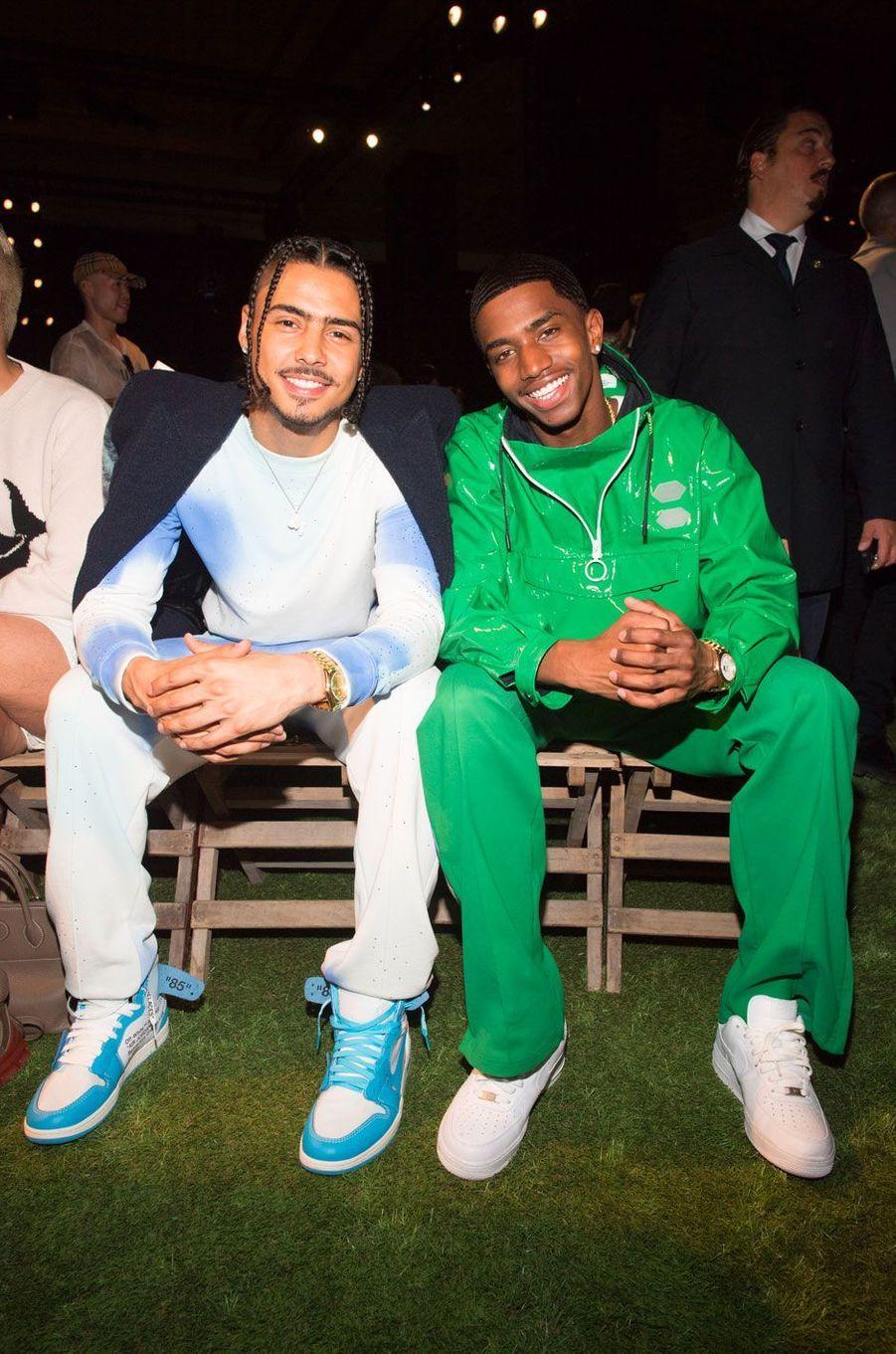 Quincy Brown et Christian Combs au défilé Off-White homme printemps-été 2019, Paris, 20 juin 2018