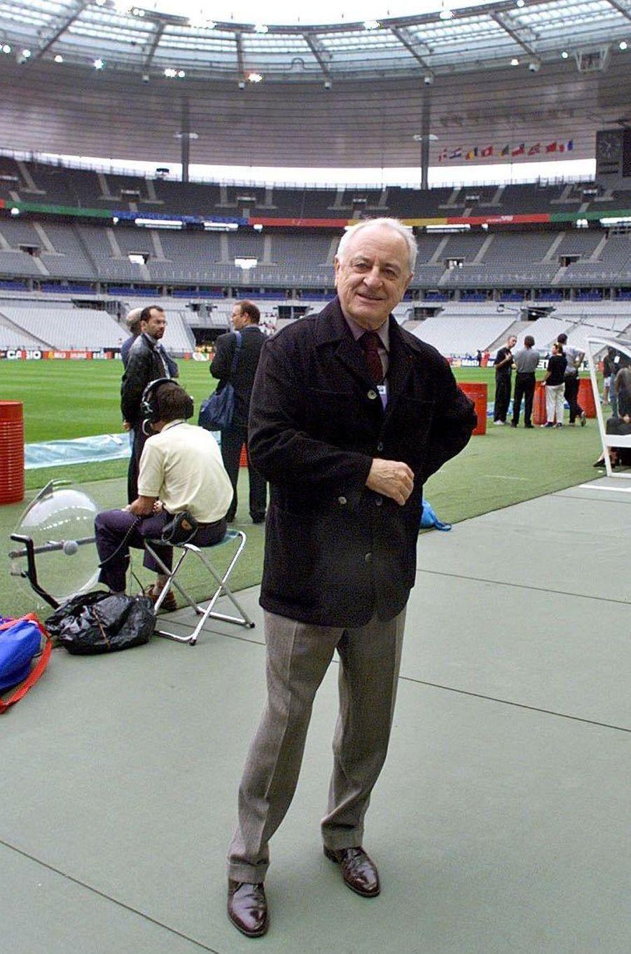 Pierre Bergé au stade de France le 11 juillet 1998, veille de la finale de la Coupe du Monde.