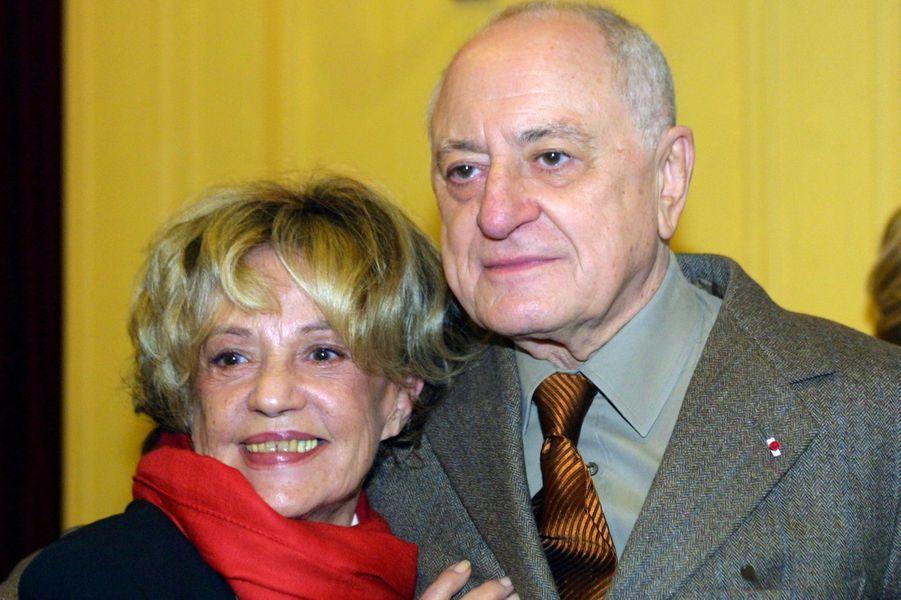 Jeanne Moreau et Pierre Bergé en novembre 2001.