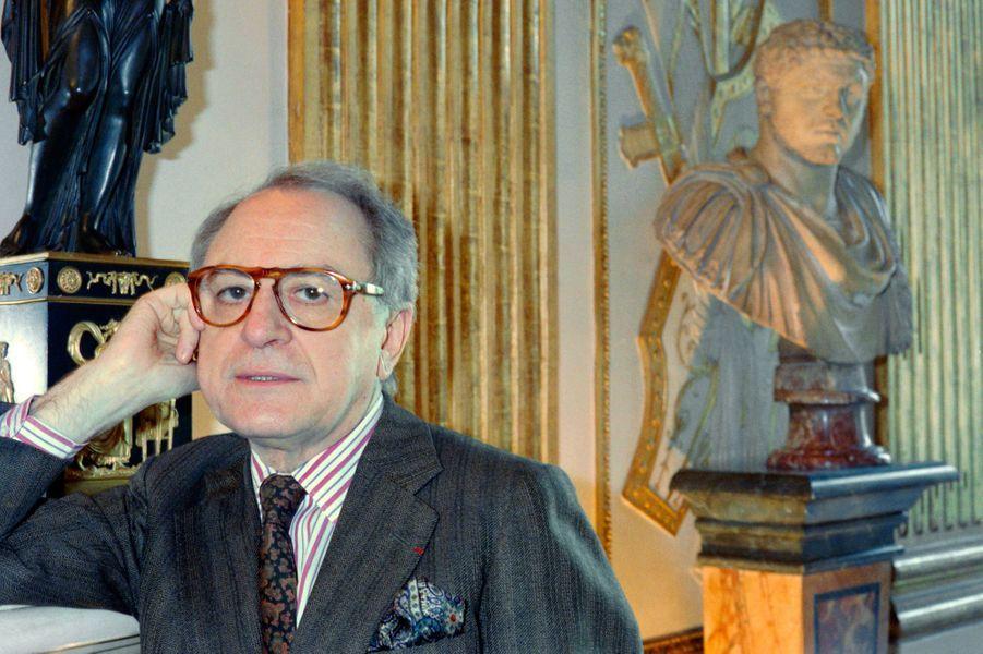 Pierre Bergé, ici en février 1984 au ministère de la Culture.