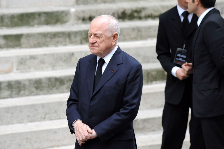 Pierre Bergé le 5 juin 2008 à Paris, lors des obsèques d'Yves Saint Laurent.