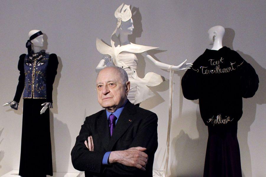 Pierre Bergé en mars 2010 à l'occasion de l'exposition dédiée à Yves Saint Laurent au Petit Palais.