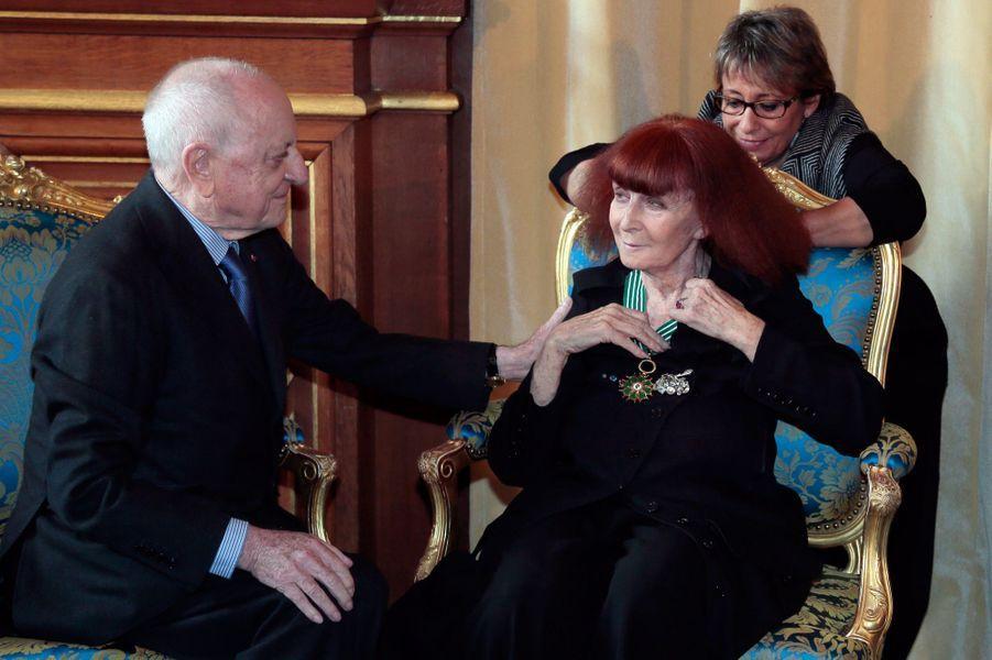 Sonia Rykiel et Pierre Bergé en octobre 2012.