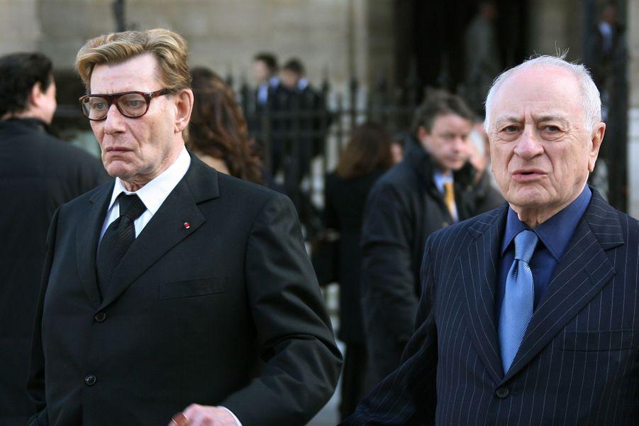 Yves Saint Laurent et Pierre Bergé en mars 2006.
