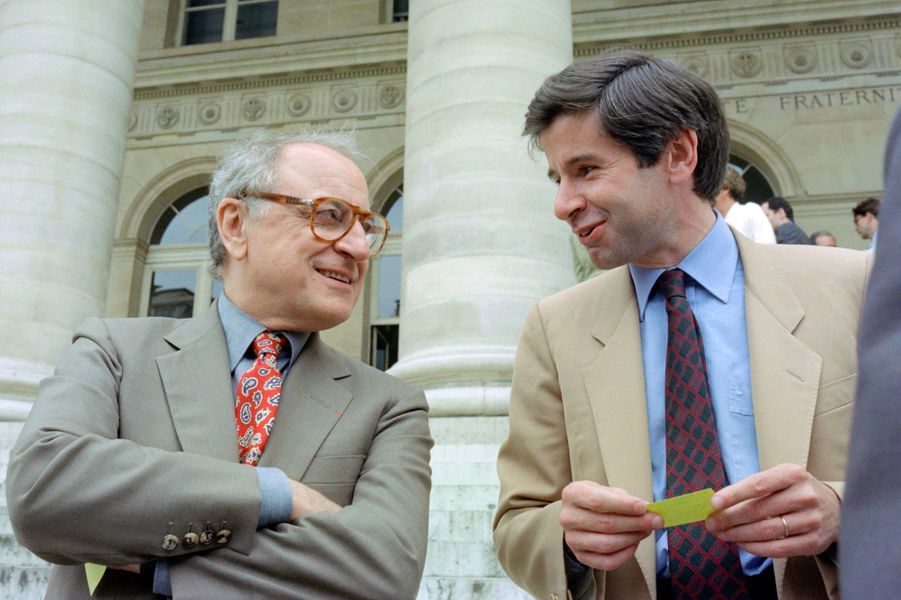 Pierre Bergé et Alain Minc en juillet 1989.